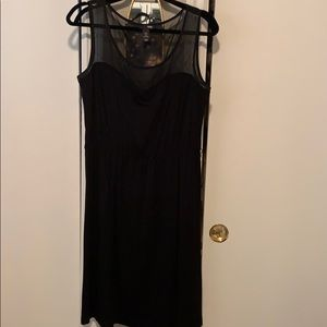 Black dress with mesh detail